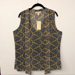 MICHAEL Michael Kors Sleeveless Blouse - Size 14
